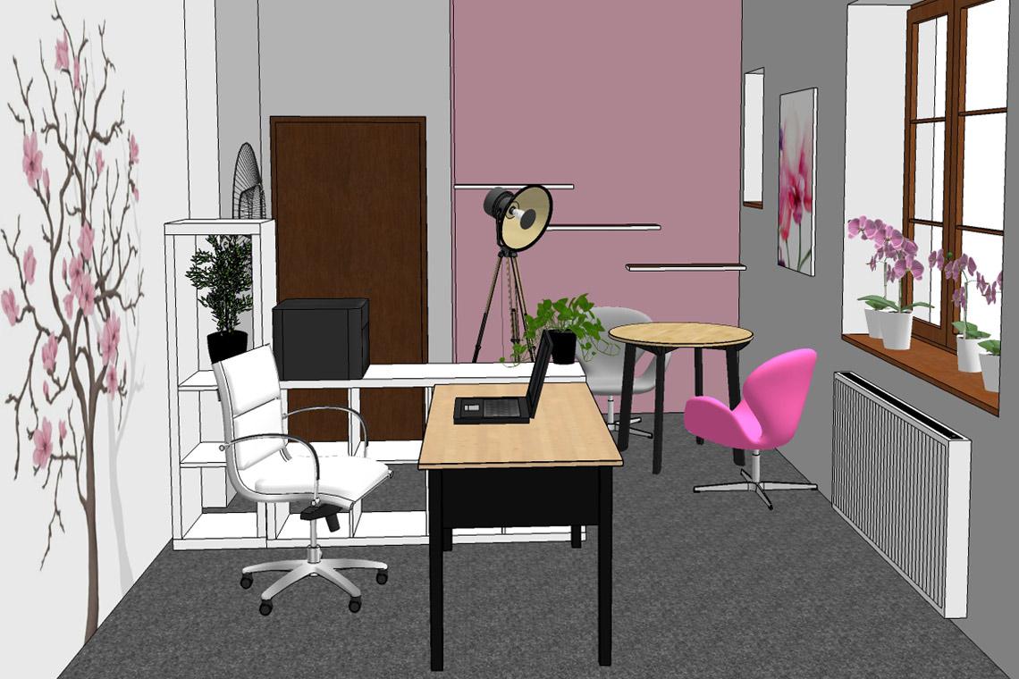 Návrh kanceláře s ženskou energií