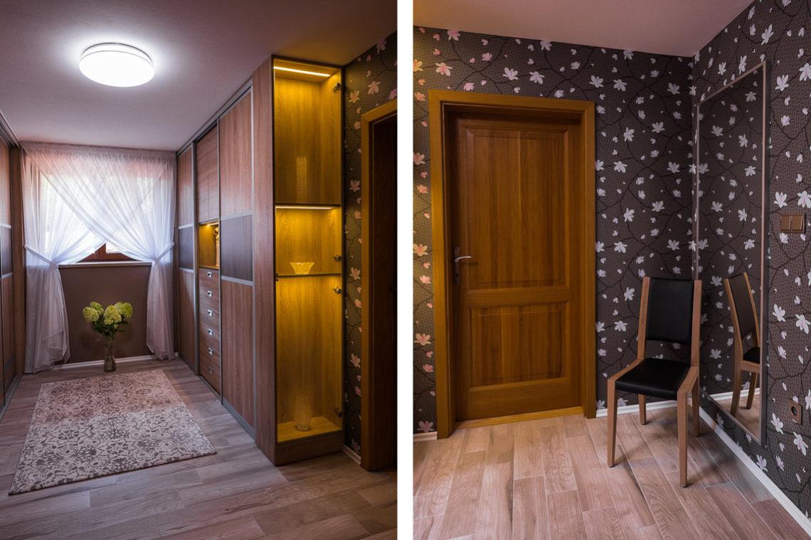 Návrh interiéru šatna