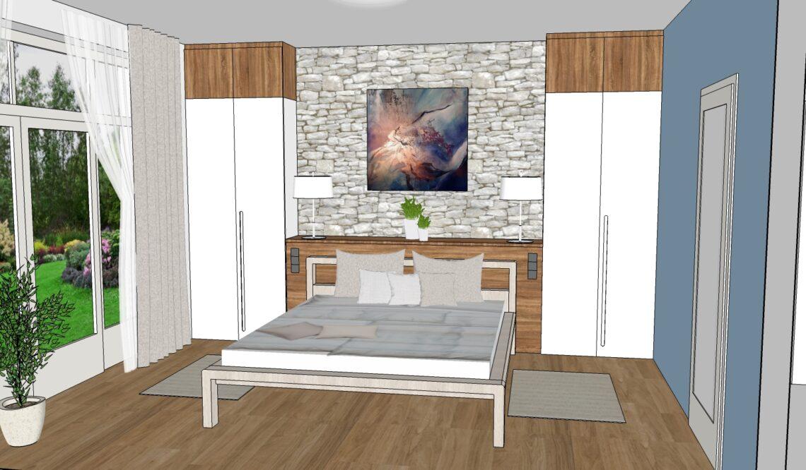 Návrh interiéru dle Feng Shui - ložnice