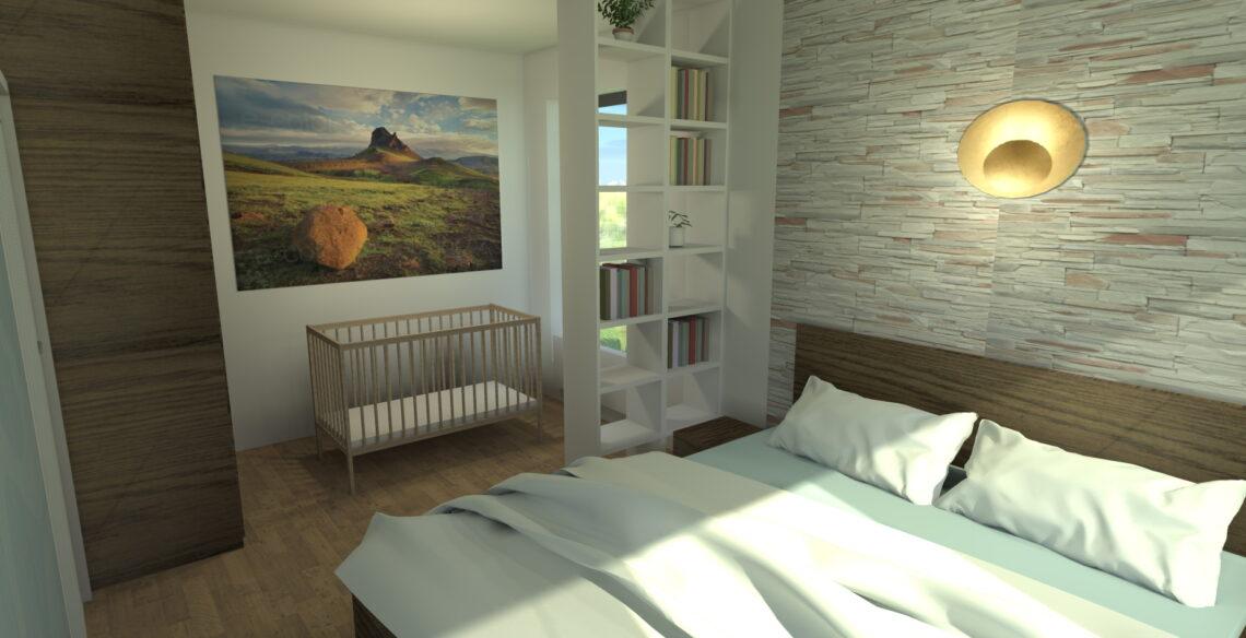 Feng Shui ložnice - vizualizace