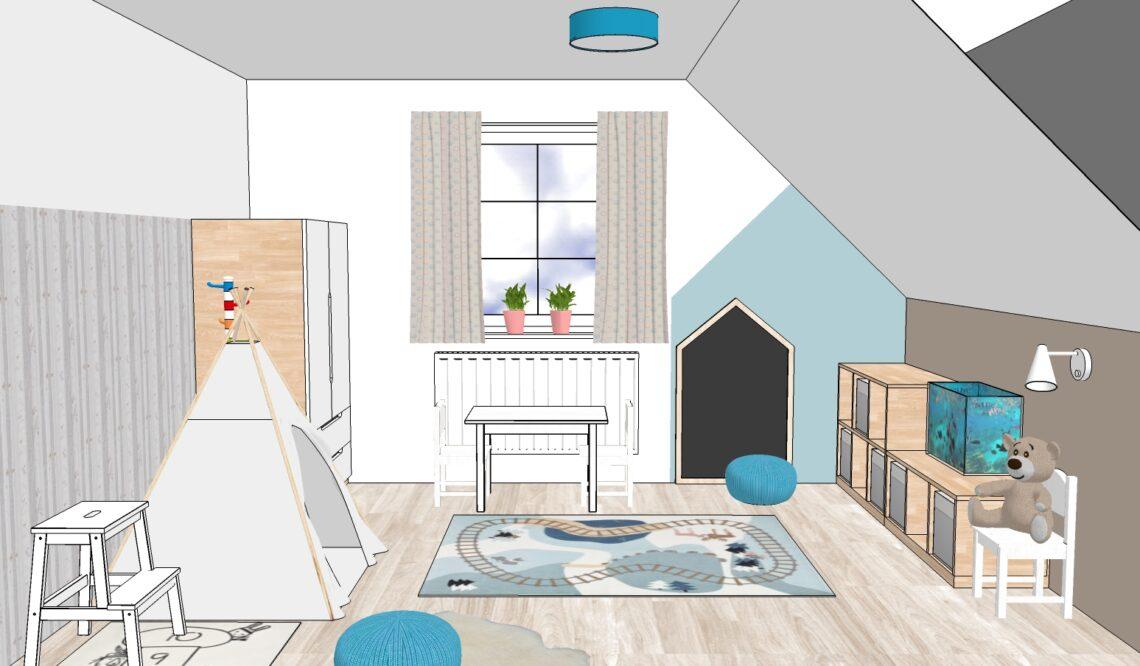 Feng Shui návrh dětského pokojíku na dálku