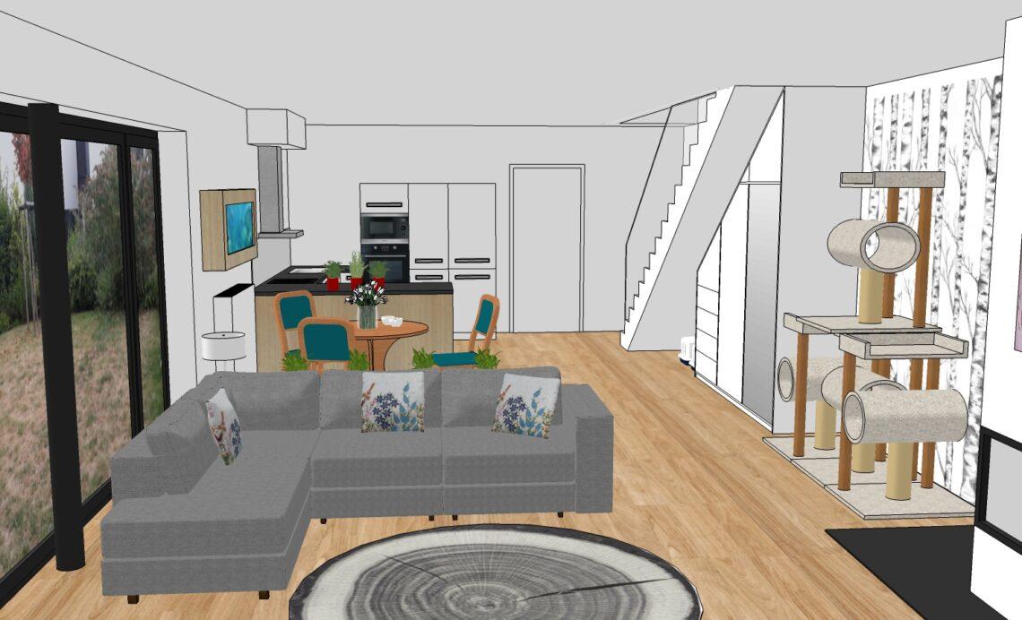 Obývací pokoj dle Feng Shui