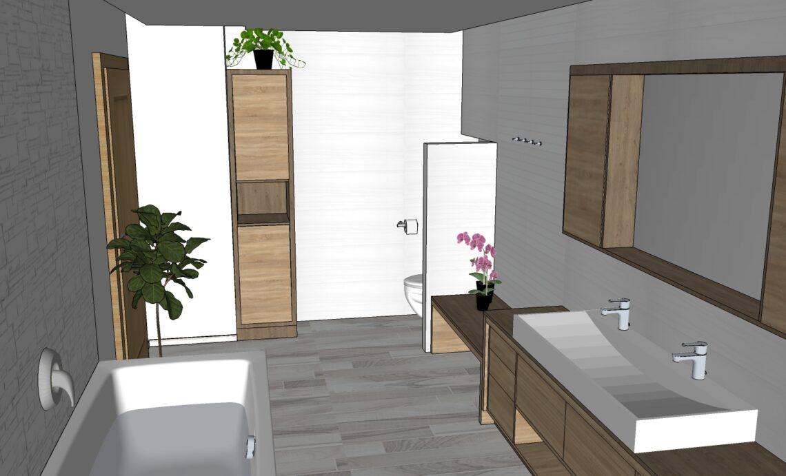 Návrh koupelny - Feng Shui, Vítr-Voda, Monika Jelen Sýkorová, Markéta Petříková