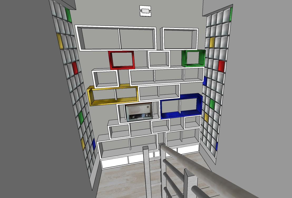 Návrh knihovny á la Mondrian, Vítr-Voda