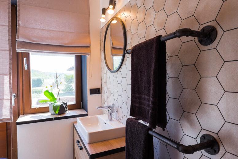 koupelna v industriálním stylu